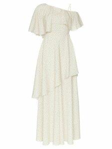 Vika Gazinskaya one shoulder ruffled long dress - Neutrals