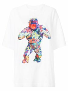Juun.J gorilla print T-shirt - White