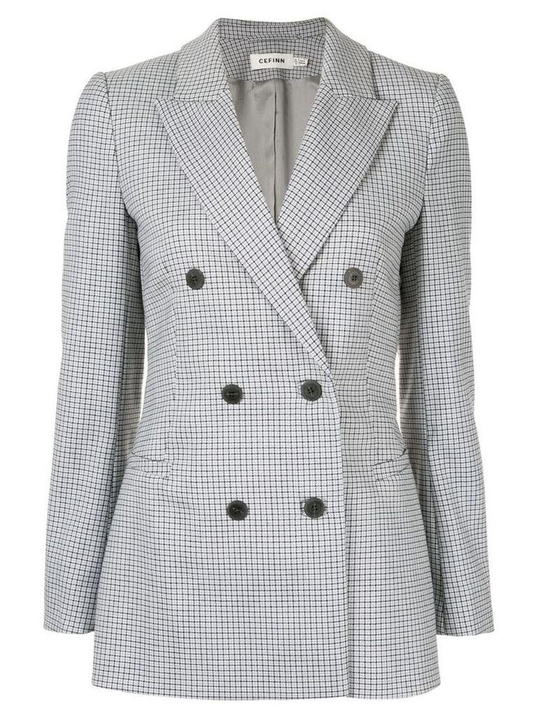 Cefinn houndstooth double breasted blazer - Grey