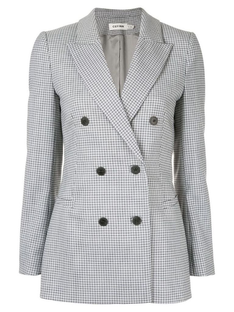 Cefinn houndstooth double breasted blazer - Grey