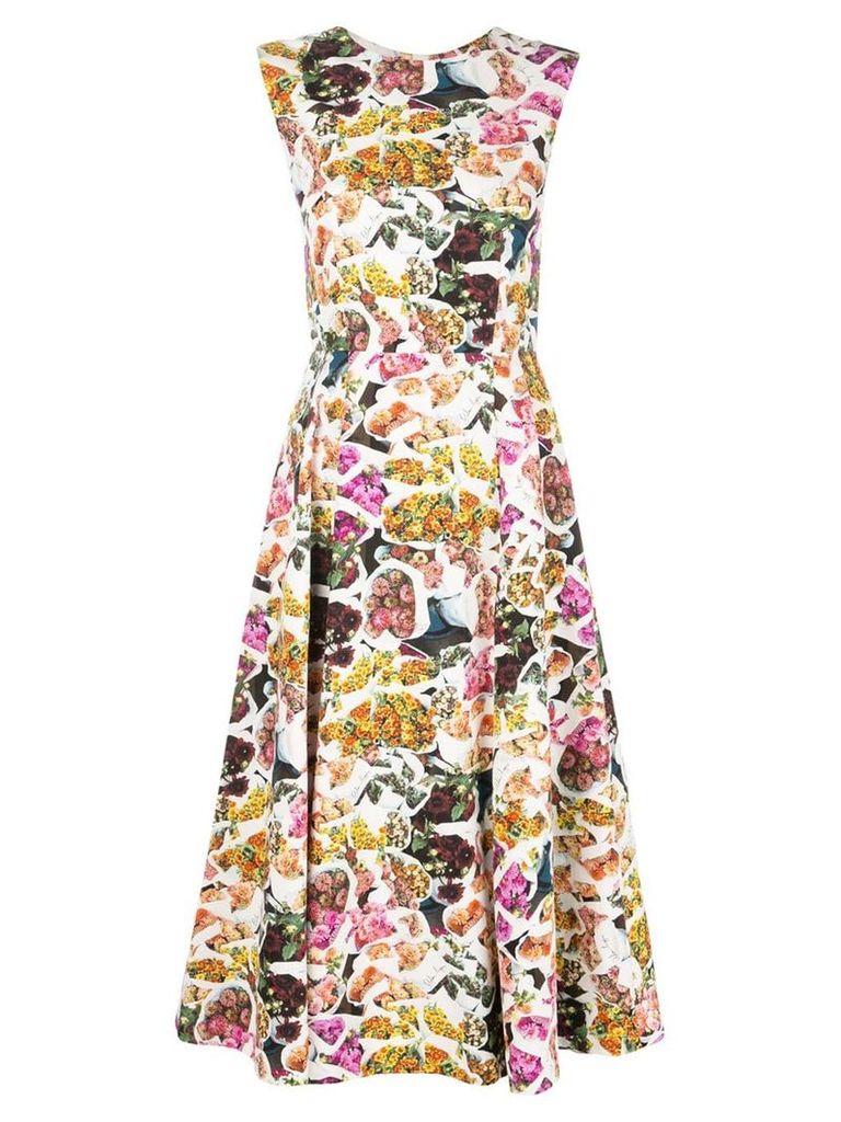 Adam Lippes floral print fluted dress - Multicolour