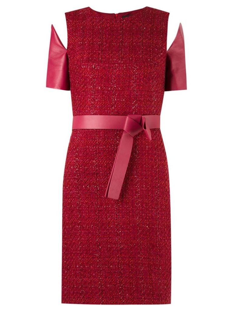 Gloria Coelho panelled dress - Red