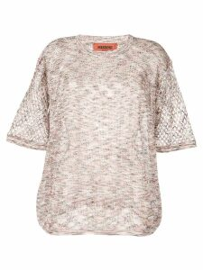 Missoni waffle top - White