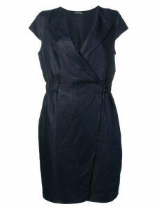 Emporio Armani lapelled mini dress - Blue