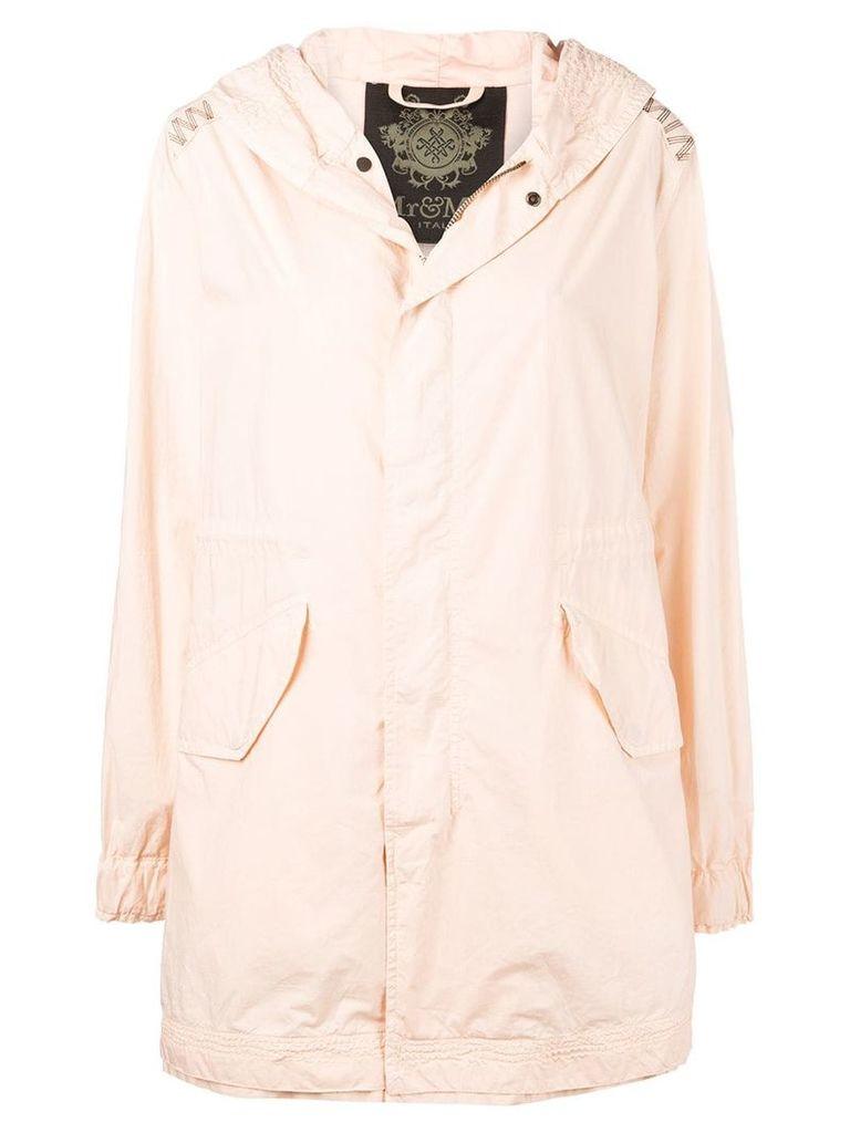 Mr & Mrs Italy hooded parka coat - Pink