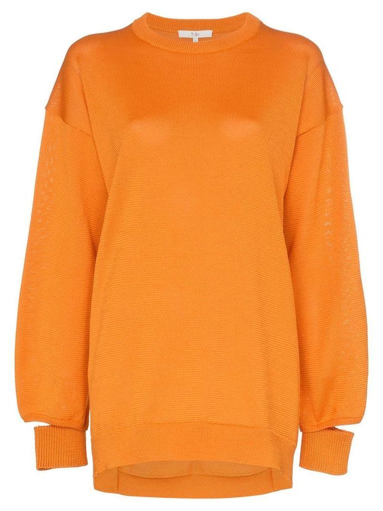 Tibi oversized knitted jumper - Orange