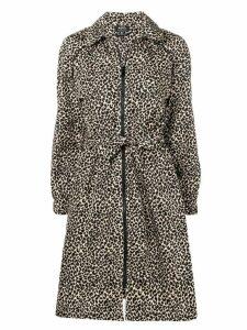A.P.C. leopard print parka - Neutrals