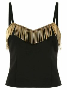 Moschino needle embellished top - Black