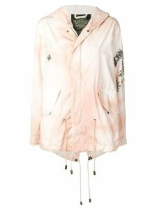 Mr & Mrs Italy logo print mini parka - Pink