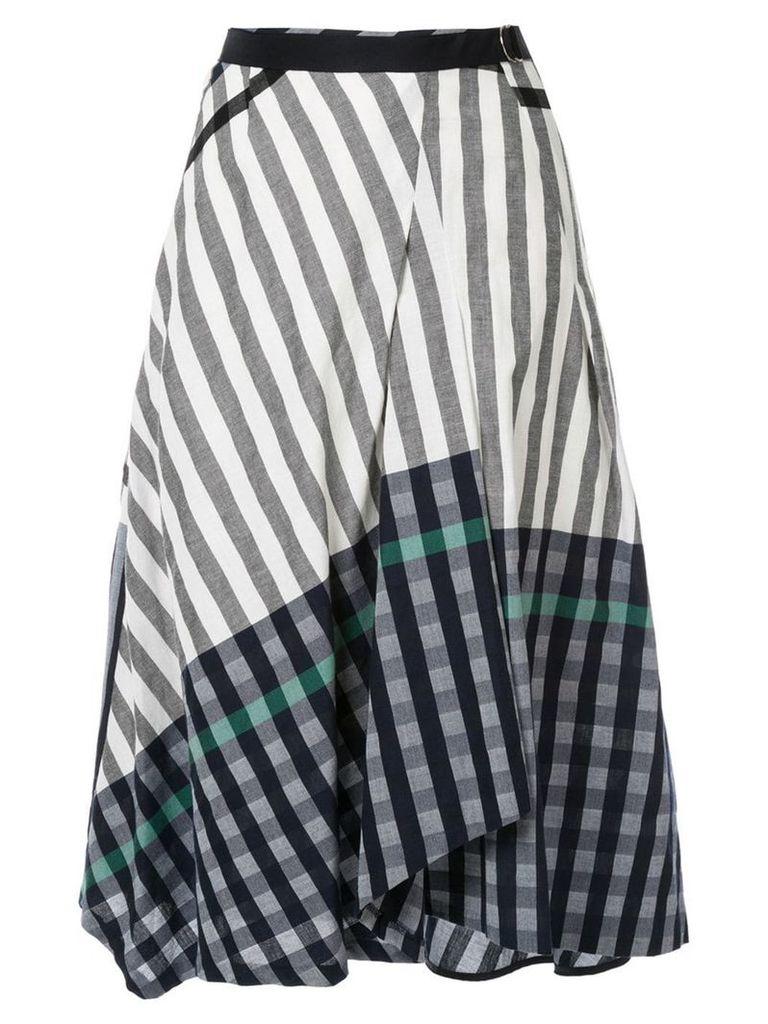 Frei Ea patterned midi skirt - White