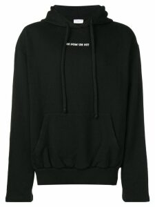 Ih Nom Uh Nit frayed graphic logo hoodie - Black