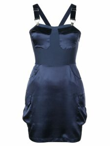 Fleur Du Mal overall mini dress - Blue
