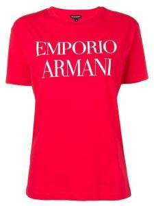 Emporio Armani logo T-shirt - Red