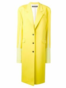 Y/Project contrast single-breasted coat - Yellow