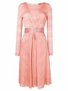 Missoni textured zigzag dress - Orange