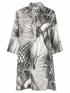 Co palms print shirt dress - Black