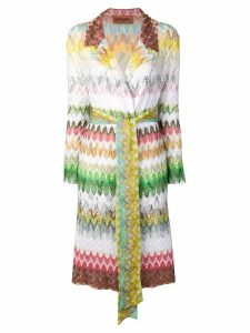 Missoni zig zag trench coat - White