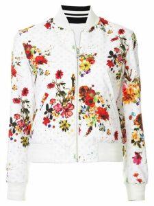 Loveless floral print bomber jacket - White