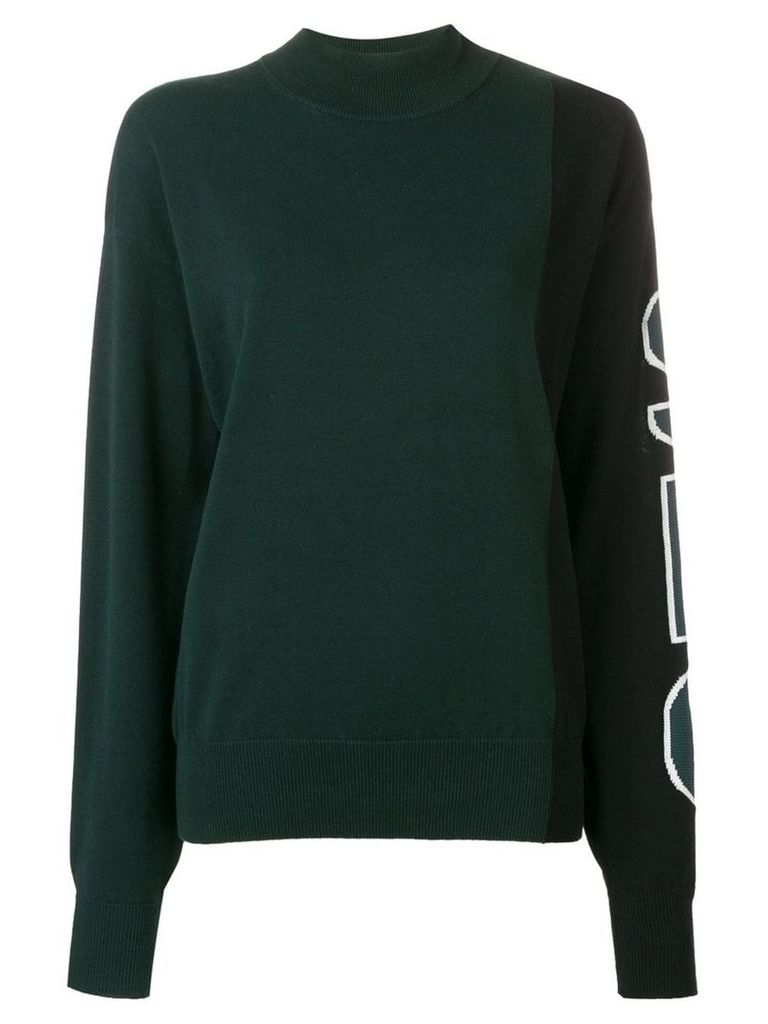 See By Chloé logo print jumper - Green