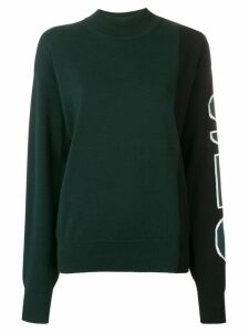 See By Chloé logo print jumper - Green