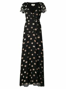 Temperley London velvet star wrap dress - Black