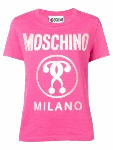 Moschino logo print T-shirt - Pink