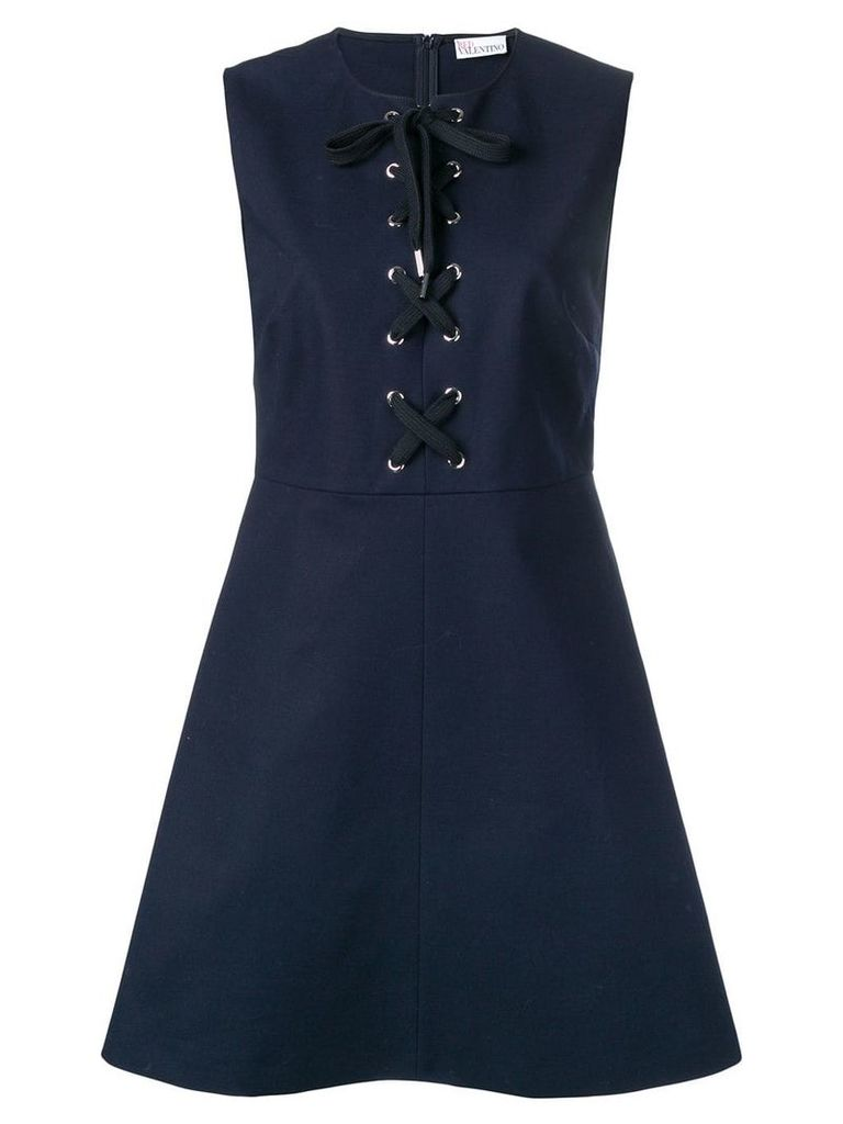 Red Valentino lace-up dress - Blue