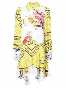 Ganni midi printed shirt dress - Yellow