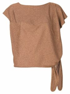 Vivienne Westwood Anglomania copper glitter top - Brown