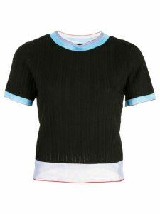 i-am-chen round neck knit top - Black