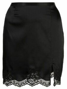 Fleur Du Mal James lace slip skirt - Black