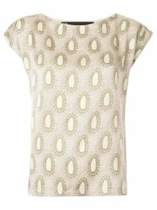 Muller Of Yoshiokubo printed blouse - Neutrals