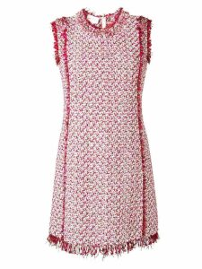 Giambattista Valli bouclé shift dress - PINK