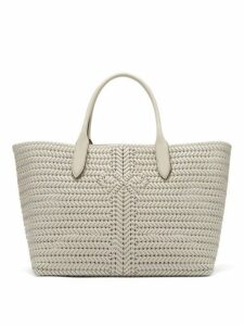 Anya Hindmarch - The Neeson Large Woven Leather Tote Bag - Womens - White