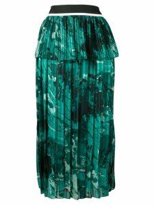 Victoria Victoria Beckham green landscape skirt