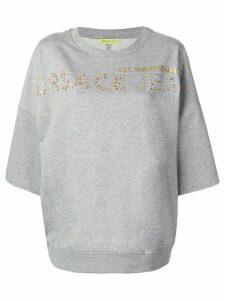 Versace Jeans Couture rhinestone logo T-shirt - Grey