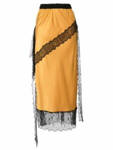 Romance Was Born Devotion lace slip skirt - Yellow