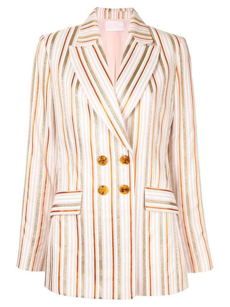 Peter Pilotto metallic stripe blazer - PINK