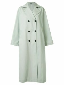 Jil Sander Navy double breasted trench coat - Green