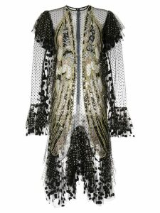 Romance Was Born Exoskeleton lace dress - Black