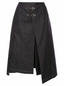 Rokh buckle detail skirt - Blue