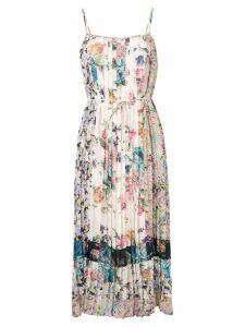 Zimmermann floral print pleated dress - Neutrals