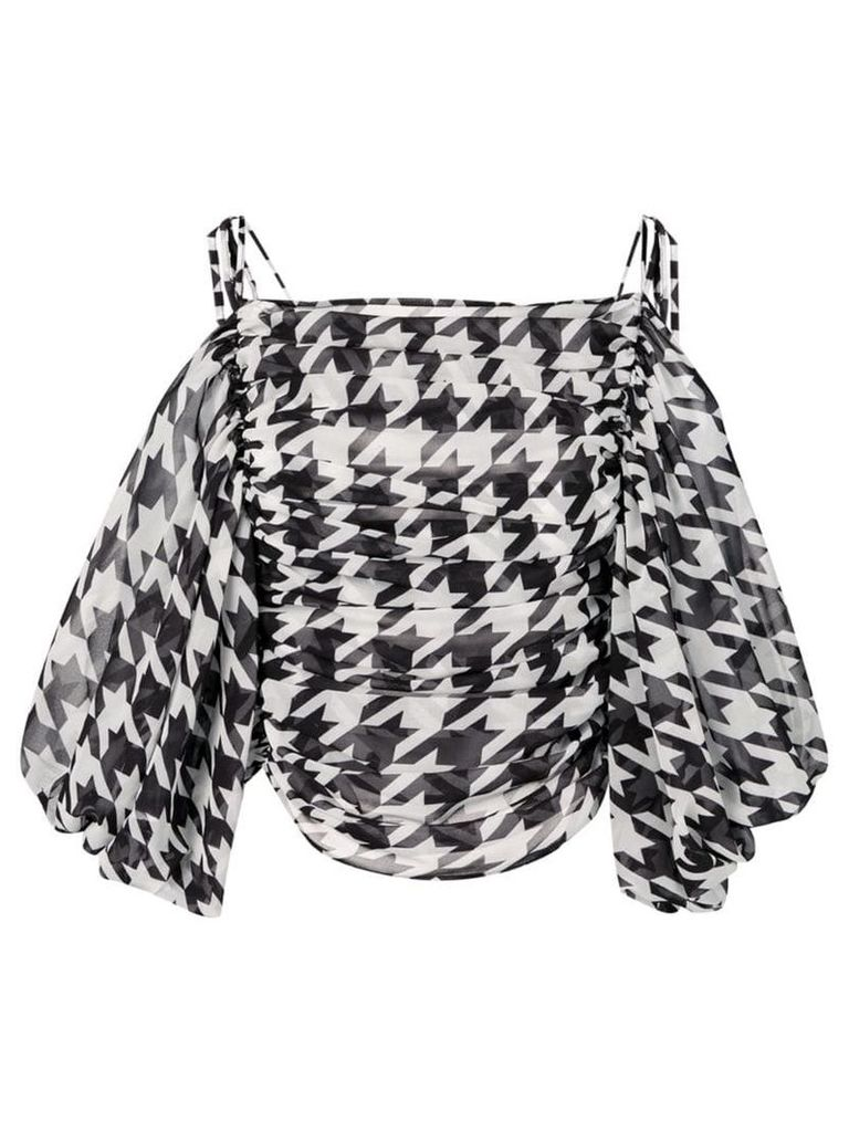 Giuseppe Di Morabito houndstooth print blouse - Black