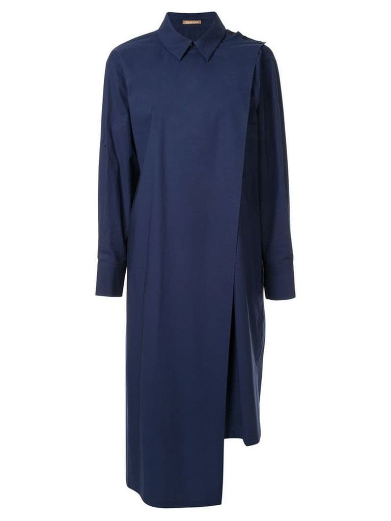 Nehera Daix double front shirt dress - Blue
