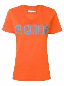 Alberta Ferretti slogan T-shirt - Orange