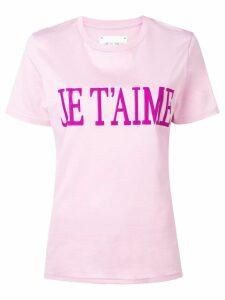 Alberta Ferretti slogan T-shirt - Pink