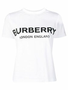 Burberry logo printed T-shirt - White