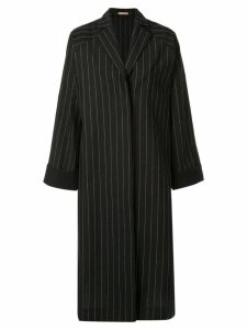 Nehera Coron pinstripe canvas duster coat - Black
