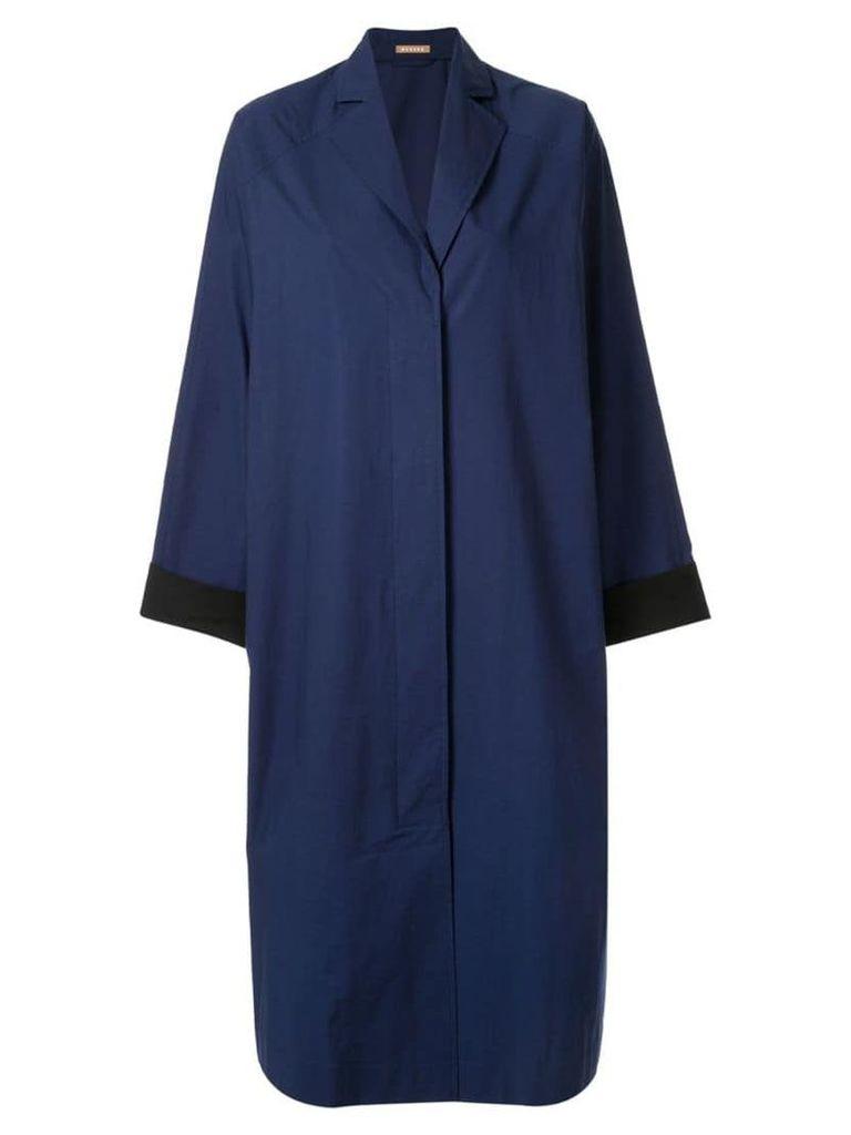 Nehera Coron crispy washed poplin light duster coat - Blue