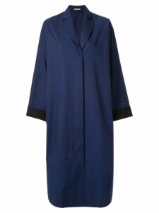 Nehera Coron crispy washed poplin light duster coat - Blue
